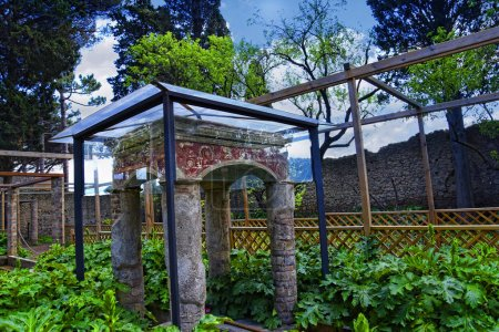 Reconstructed Garden Feature in the once buried Ro...