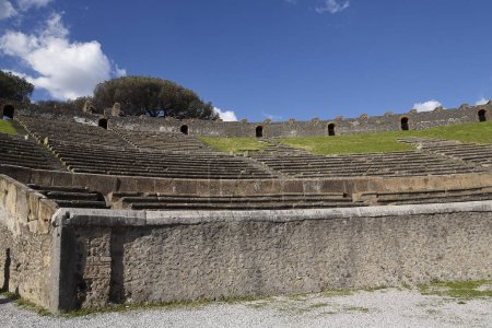The Amphitheatre of the once buried Roman city of ...
