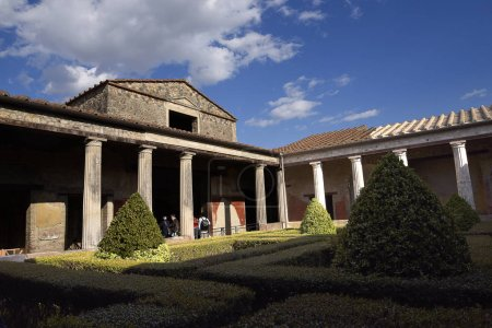 Villa and garden in the once buried Roman city of ...