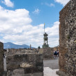 The Forum of the once buried Roman city of Pompeii...