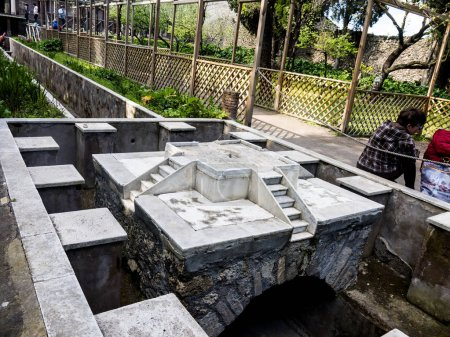 Garden Water Feature in the once buried Roman city...
