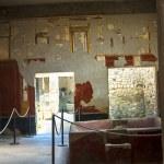 Villa interior in the once buried Roman city of Po...