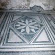 Mosaic floor in the once buried Roman city of Pomp...