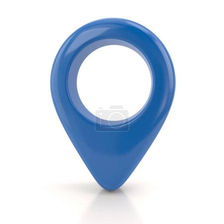 Blue  map pin 3d illustration