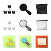 Isolated object of education and learning icon Collection of education and school vector icon for stock