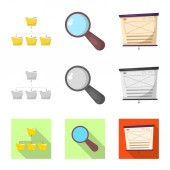 Isolated object of education and learning sign Set of education and school vector icon for stock