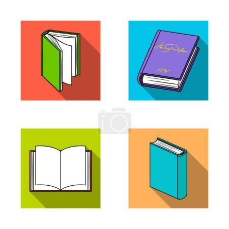 Isolated object of library and textbook symbol. Se...