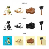 Isolated object of story and items icon Collection of story and attributes  stock vector illustration