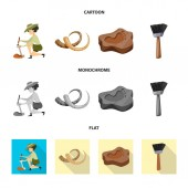 Isolated object of story and items icon Collection of story and attributes  vector icon for stock