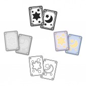 Tarot cards icon in cartoonblack style isolated on white background Black and white magic symbol stock vector illustration