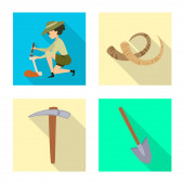 Vector illustration of story and items symbol Set of story and attributes vector icon for stock