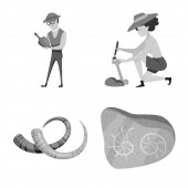 Isolated object of story and discovery icon Set of story and items stock symbol for web