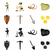 Isolated object of story and items sign Set of story and attributes vector icon for stock