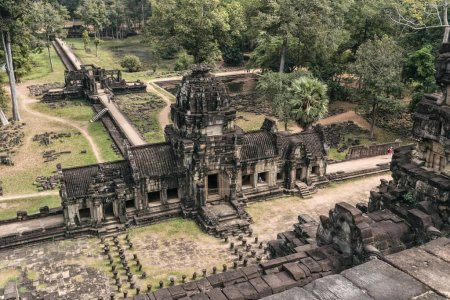 Photo for Angkor wat temple complex in Cambodia, Siem Reap Buddhist temple in Asia - Royalty Free Image
