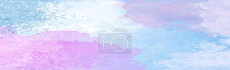 Illustration for Realistic blue watercolor panoramic texture on white background - Vector illustration - Royalty Free Image