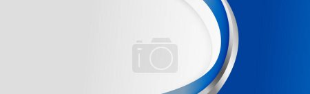 Illustration for White curved line with blue shades on a white background - Vector illustration - Royalty Free Image
