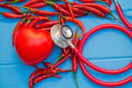 Chilli best foods for healthy heart concept image