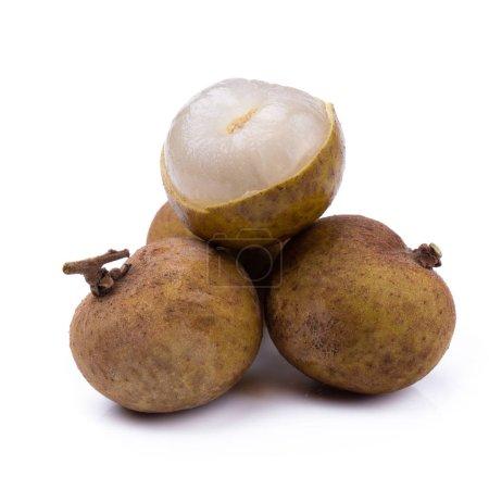 Fresh longan fruit isolated on white background
