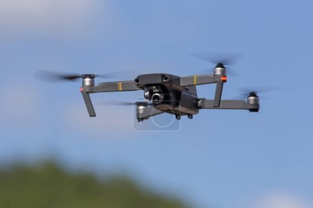 Photo for The drone copter flying with digital camera. - Royalty Free Image
