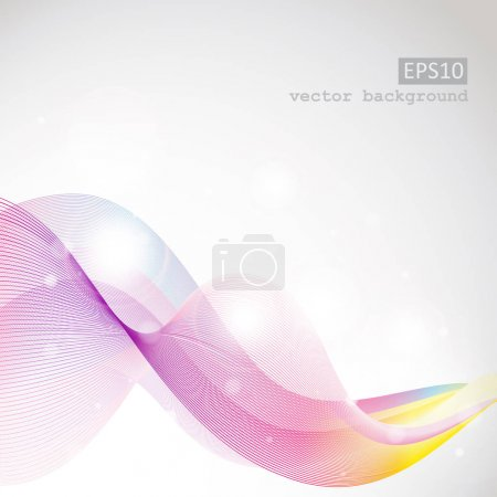 Photo for Abstract blue waves and lines on white background - Royalty Free Image