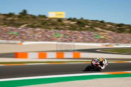November12nd 2017, Valencia, Spain MotoGP Race, Marco Bezzecchi of the CIP Moto3 Team in action during the last race of the championship