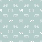 Seamless Vector Pattern With VR Logos