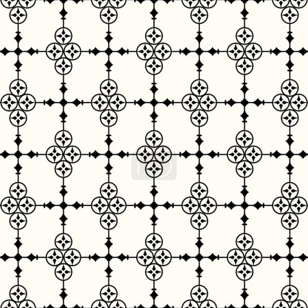 Illustration for Vintage abstract floral pattern. Abstract pattern in arabian style. Arabic floral decoration. Eps 10 vector illustration - Royalty Free Image