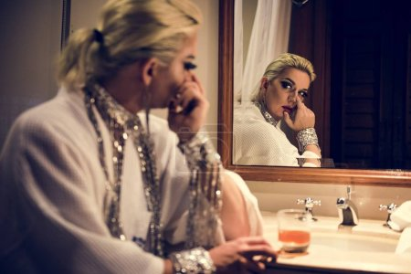 Portrait of russian drag queen