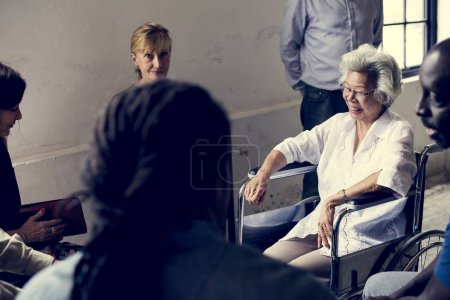 Photo for Group of diverse elderly gathering together - Royalty Free Image