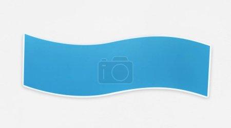 Blue banner design on white background