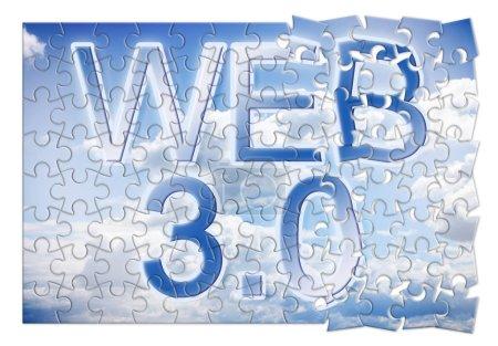 WEB 3.0 - concept image in puzzle shap...