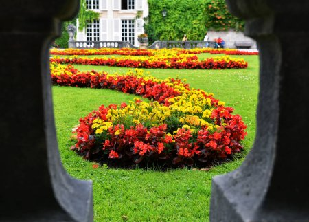 Photo for SALZBURG, AUSTRIA - JULY 25, 2017. View of the famous Mirabell Garden in Salzburg, Austria. - Royalty Free Image