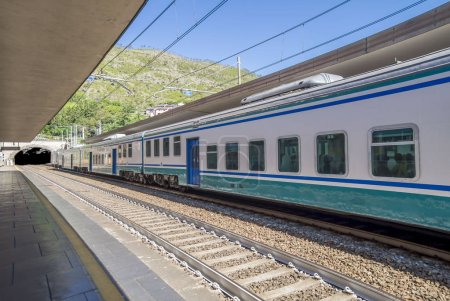 Photo for Train station at Cinque Terre National Park - Royalty Free Image