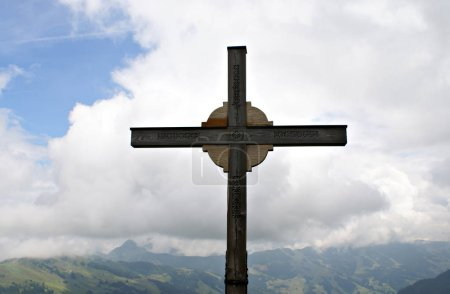 Photo for Wooden cross on the mountain - Royalty Free Image