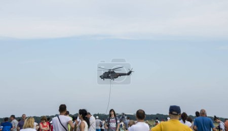 Photo for TUZLA, CONSTANTA, ROMANIA - JULY 2, 2016. Airshow Aeromania, annual summer attraction for many tourists, in Tuzla, Romania. - Royalty Free Image