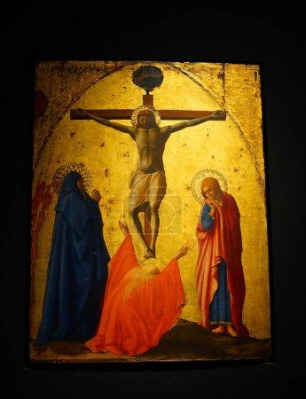 Photo for Masaccio, Tommaso di ser Giovanni di Mone Cassai, called (1401-1428). Italian painter. Crucifixion, 1426. National Museum of Capodimonte. Naples. Italy. - Royalty Free Image