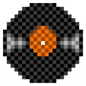 Pixelated vinyl icon