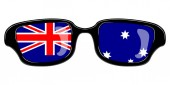 Glasses with the flag of Australia