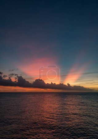 Photo for Clouds over the seaViews around the tropical  Caribbean island of Curacao - Royalty Free Image