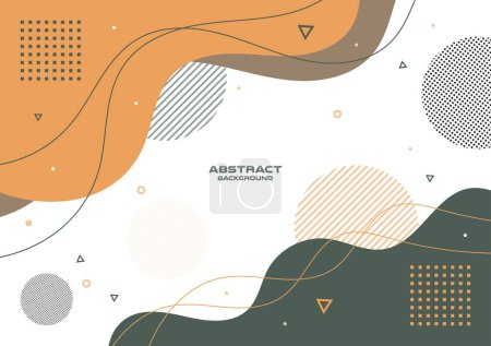 Illustration for Abstract freeform shape geometric background , Vector and illustration, Template Design for shape banner or poster - Royalty Free Image