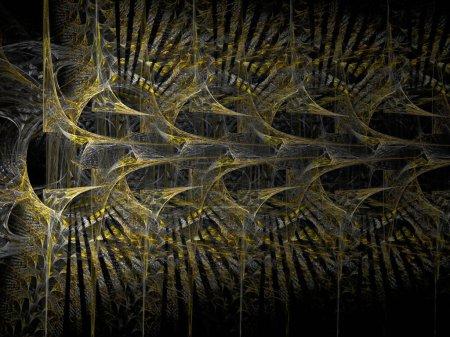 Photo pour Fond fractal abstrait avec des formes futuristes - image libre de droit