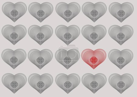 Photo for Seamless pattern with hearts - Royalty Free Image