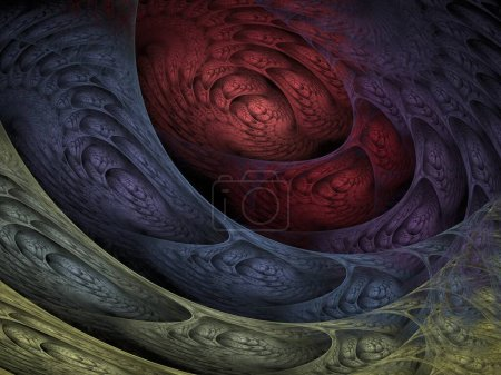 Photo for Abstract fractal background with a flower - Royalty Free Image