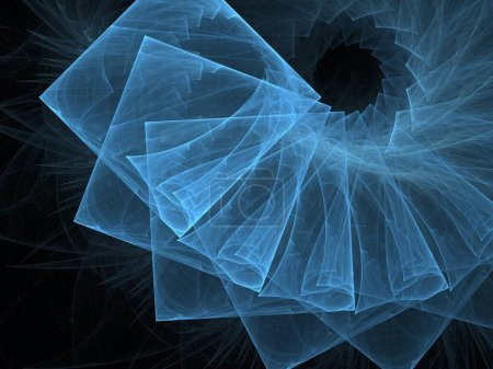 Photo for Abstract fractal background for elegant design with white and black and blue. - Royalty Free Image