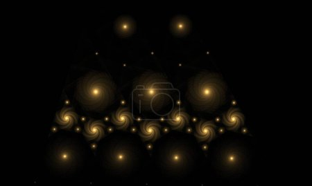 Photo for Abstract background with glowing balls - Royalty Free Image