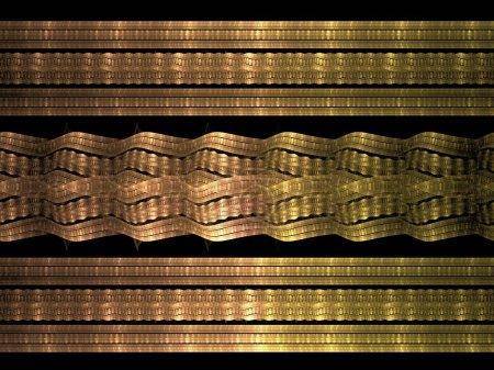 Photo pour Fond doré avec des rayures noires et blanches - image libre de droit