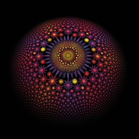 Photo for Abstract fractal background with circles - Royalty Free Image