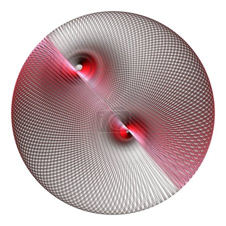 Photo for Abstract background with red and white lines - Royalty Free Image