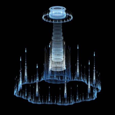 Photo pour Fond abstrait avec structure futuriste - image libre de droit