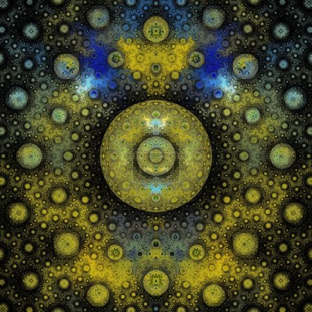 Photo pour Fond fractal abstrait avec effet kaléidoscope - image libre de droit